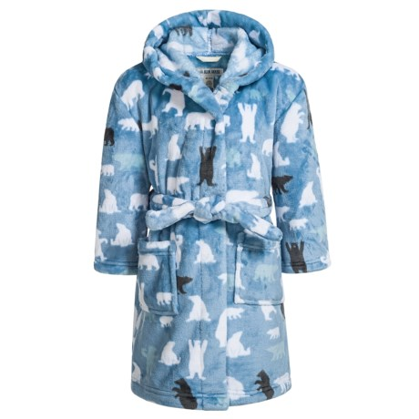 Hatley Little Blue House Bears Fleece Robe - Long Sleeve (For Little Girls)