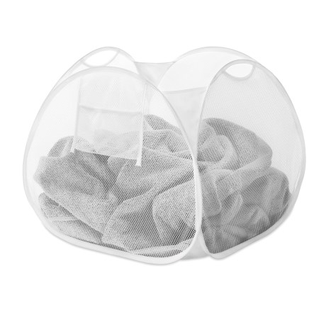 Whitmor Pop-and-Fold Square Laundry Basket