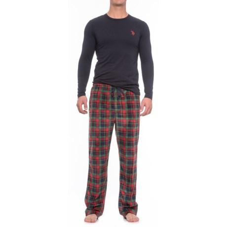USPA U.S. Polo Assn. Jersey and Fleece Pajamas - Long Sleeve (For Men)