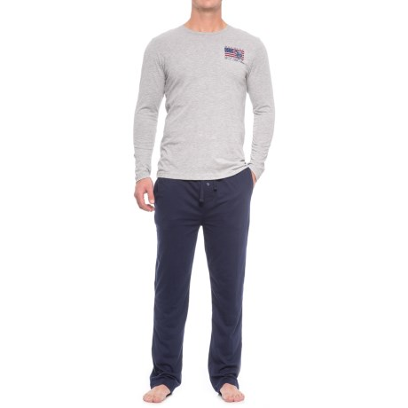 USPA U.S. Polo Assn. Jersey Pajamas - Long Sleeve (For Men)