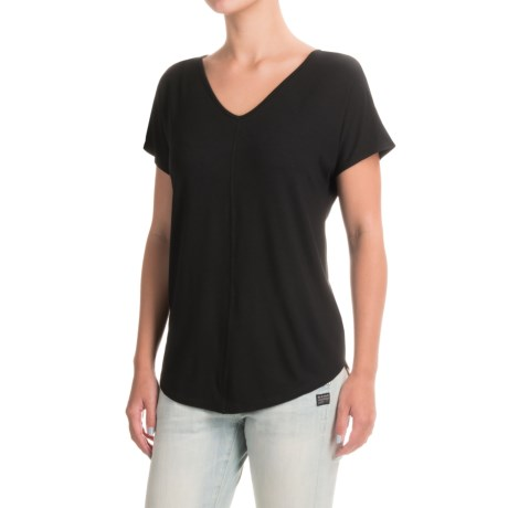 Paraphrase Double V-Neck Shirt - Modal, Short Sleeve (For Women)