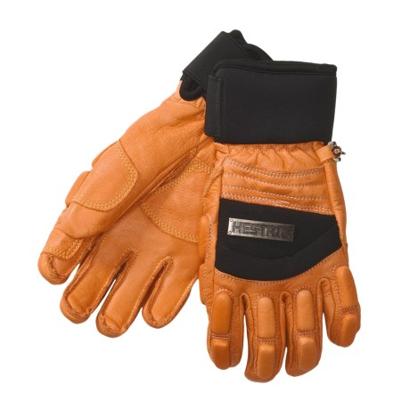 Hestra Vertical Cut Freeride Gloves - Leather, Insulated (For Men and Women)