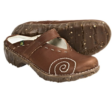 El Naturalista N096 Iggdrasil Clogs - Leather (For Women)