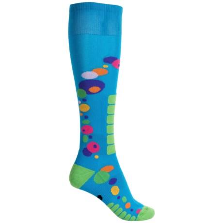 Eurosock Free Style Silver Ski Socks - Over the Calf (For Women)
