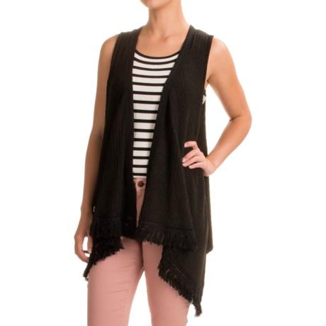 August Silk Fringed Sweater Vest (For Women)
