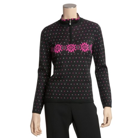 Meister Nancy Sweater - Mock Half-Zip Neck, Nordic Jacquard (For Women)