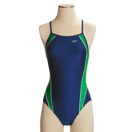 Speedo Axcel Team Splice Swimsuit - 1-Piece, Axcel Back (For Women)