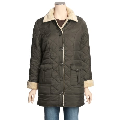 Grizzly Quilted Ripstop Coat - Sherpa Lining (For Women)