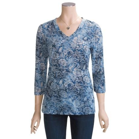 Zenim Burnout Shirt - 3/4 Sleeve (For Women)
