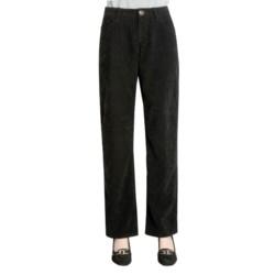 Zenim Sueded Cotton Pants - Five Pocket (For Women)