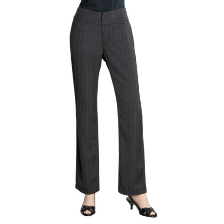 Zenim Stripe Pants - Wide Waistband (For Women)