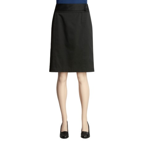 Atelier Stretch Cotton Skirt - Tiered Waistband (For Women)