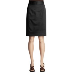 Atelier Stretch Cotton Skirt - Stitched Waistband (For Women)
