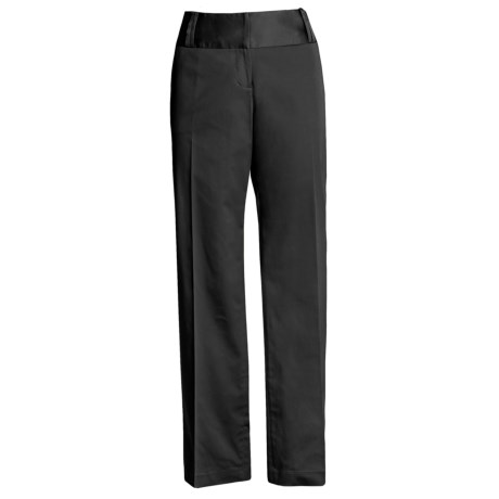 Atelier Wide Waistband Pants - Washable, Stretch Cotton (For Women)