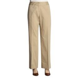 Atelier Stretch Cotton Pants - Zigzag Waistband (For Women)