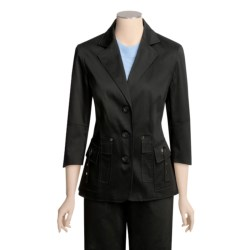 Atelier Stretch Cotton Jacket - 3/4 Sleeve (For Women)