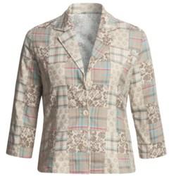 Casual Studio Madras Plaid Patch Jacket - Cotton (For Women)
