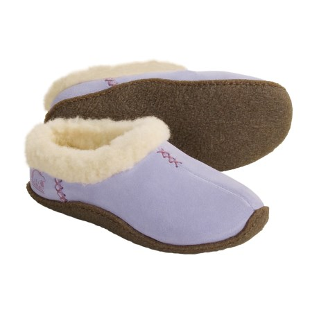 Sorel Nakiska Suede Slippers - Shearling Lined (For Kids and Youth)