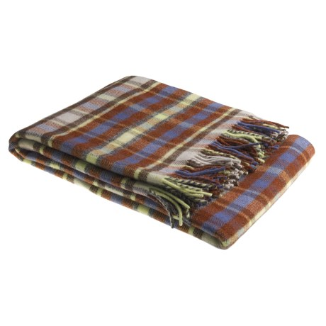 Johnstons of Elgin Shetland Wool Throw Blanket
