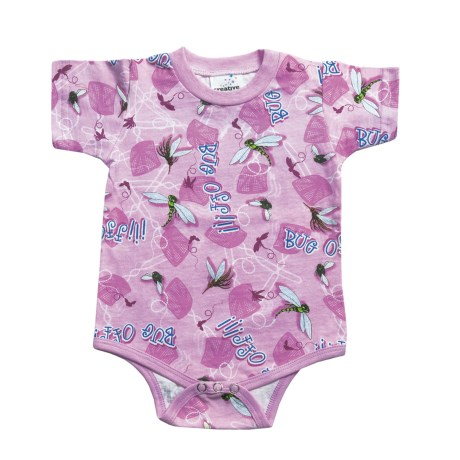 Toast and Jammies Toast & Jammies Printed Baby Bodysuit - Cotton, Short Sleeve (For Infants and Toddlers)