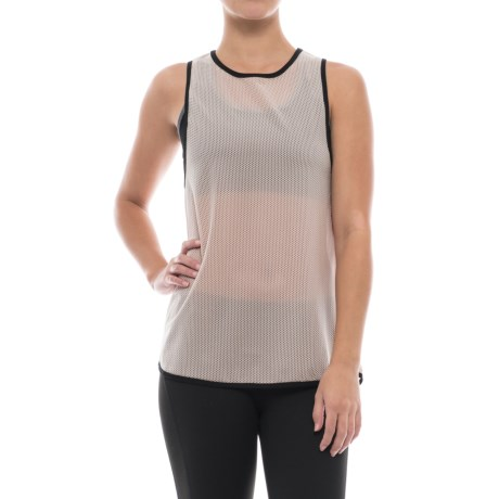 Mondetta Ubrane Mesh Tank Top - Semi Sheer (For Women)