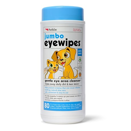 Petkin Jumbo Eye Wipes - 80-Count