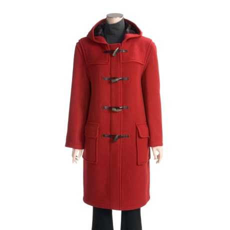 John Partridge Classic Duffle Coat - Virgin Wool (For Women)