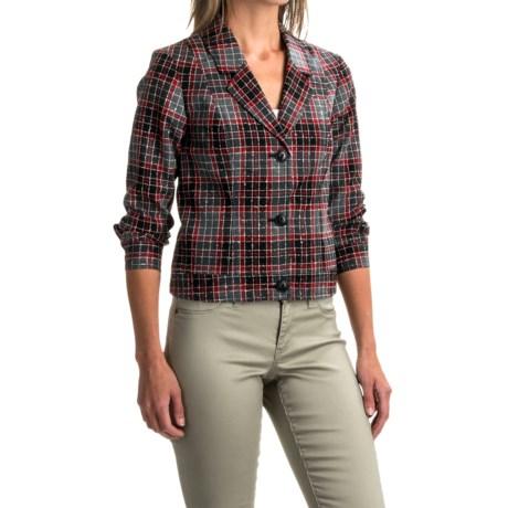 Pendleton Plaid Wool Blazer (For Women)