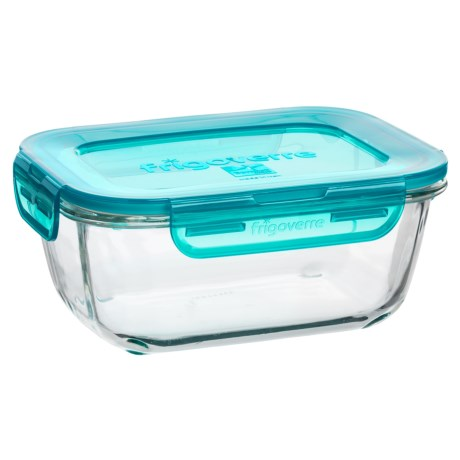 Bormioli Rocco Frigoverre Evolution Glass Food-Storage Container with Lid - 34 oz., Rectangle