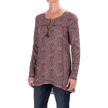 North River Printed Woven Blouse - Long Sleeve (For Women)