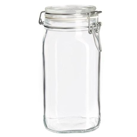 Bormioli Rocco Fido Square Glass Jar with Lid - 101.5 oz.