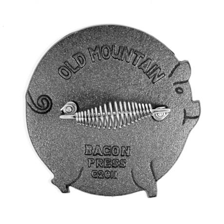 Old Mountain Cast Iron Bacon Press