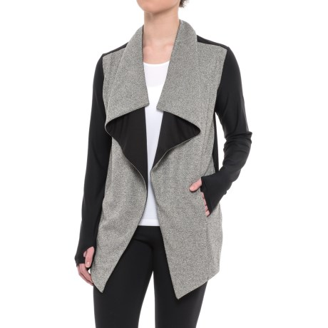 Mondetta Glisando Cardigan Jacket - Open Front (For Women)