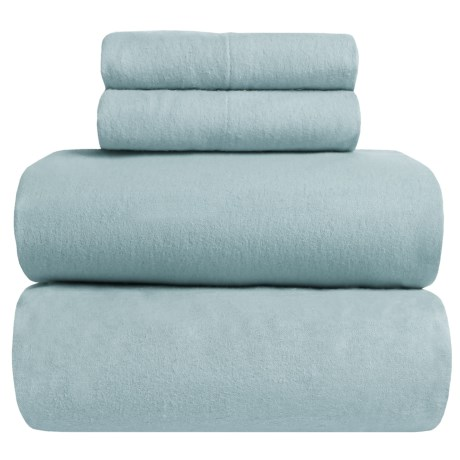 Great Bay Home Heavyweight Flannel Sheet Set - Full