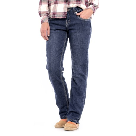 River & Rose Flannel-Lined Jeans - Relaxed Fit, Straight Leg (For Women)