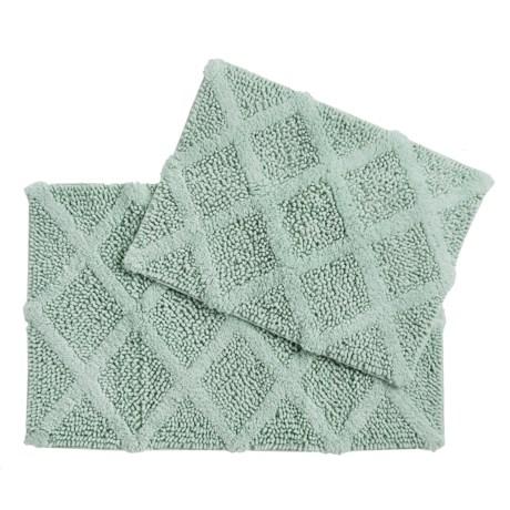 Castile Home Textiles Diamond-Patterned Bath Rug - 2-Pack, Cotton Chenille