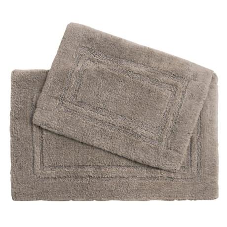 Devgiri Castile Home Textiles Double Racetrack Bath Rugs - 2-Pack, Egyptian Cotton