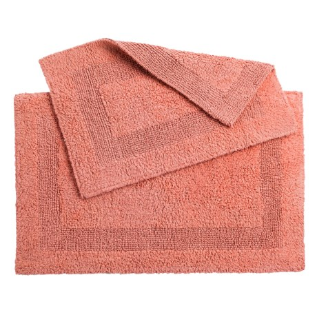 Oasis Single Racetrack Cotton Bath Rugs - 2-Pack, Reversible