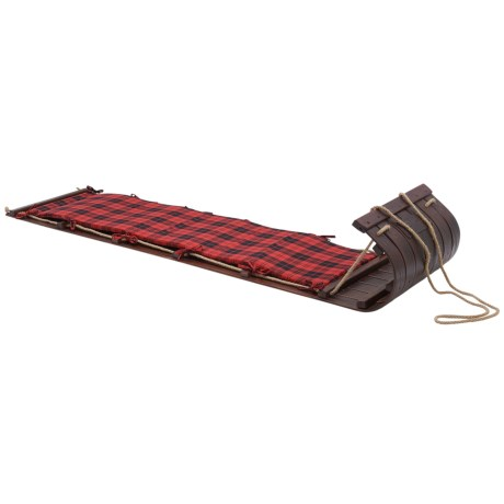 Lucky Bums Wooden Heirloom Toboggan - 72""