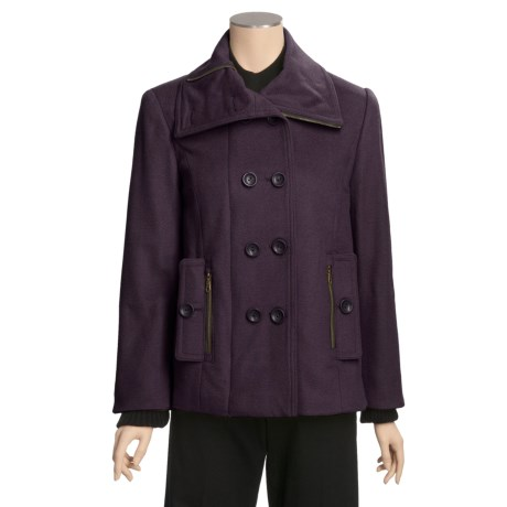 Jonathan Michael Lambswool Jacket - Zip-and-Button Front, Knit Storm Cuffs (For Women)