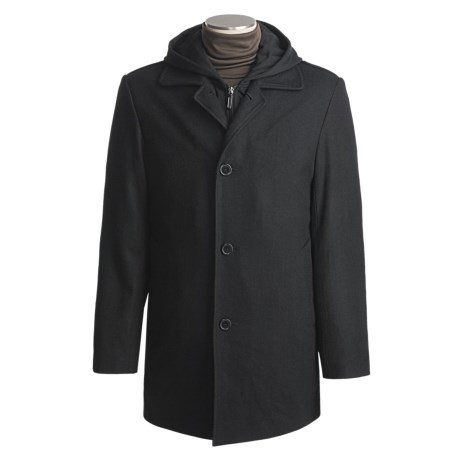 Jospeh Abboud Avalon Car Coat - Wool, Hooded (For Men)