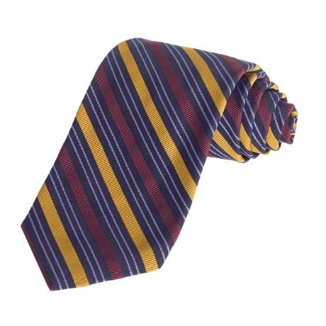 Altea Multi-Stripe Tie - Silk-Cotton (For Men)