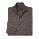 Toscano Birdseye Stripe Sweater - Merino Wool, Zip Neck (For Men)