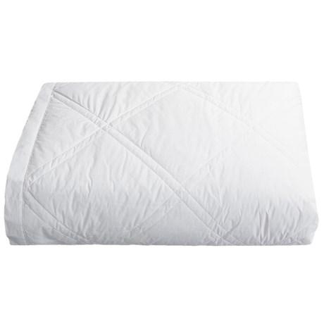 Downlite Diamond Pattern Blanket - White Duck Down, Queen
