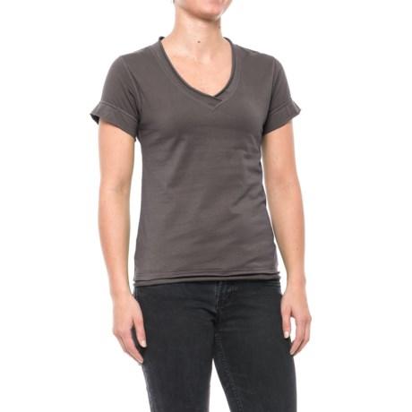Neon Buddha Rolled V-Neck Shirt - Short Sleeve (For Women)