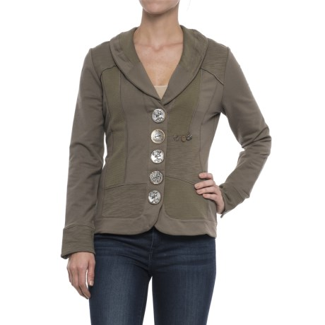 Neon Buddha Knit Zesty Jacket - Button Front (For Women)