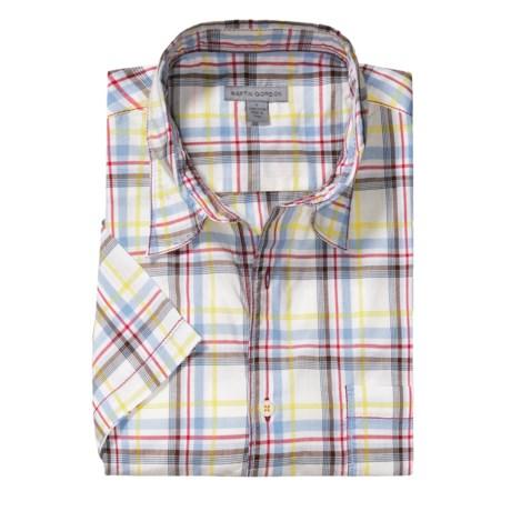 Martin Gordon Large Check Shirt - Short Sleeve (For Men)