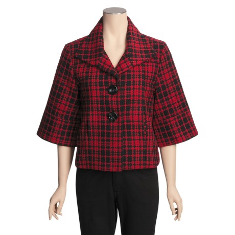 Nomadic Traders Plaid Carrie Jacket - City Chic, 3/4 Sleeve (For Women)
