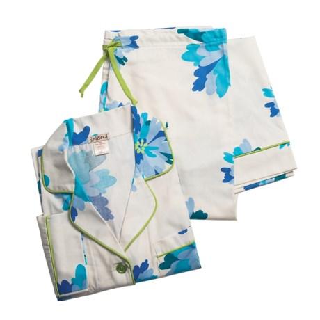 BedHead Bedhead Printed Cotton Sateen Pajamas - Long Sleeve (For Women)