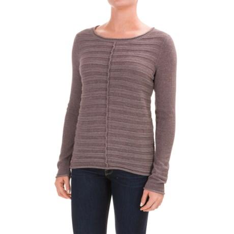 Lilla P Textured Stripe Boat Neck Sweater (For Women)